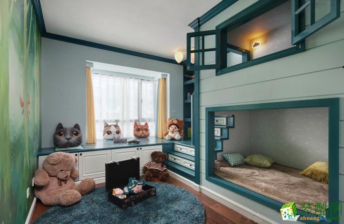 卧室  融侨悦府129平 美式混搭风三居室