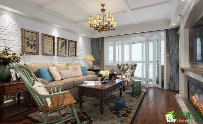 客厅  融侨悦府129平 美式混搭风三居室