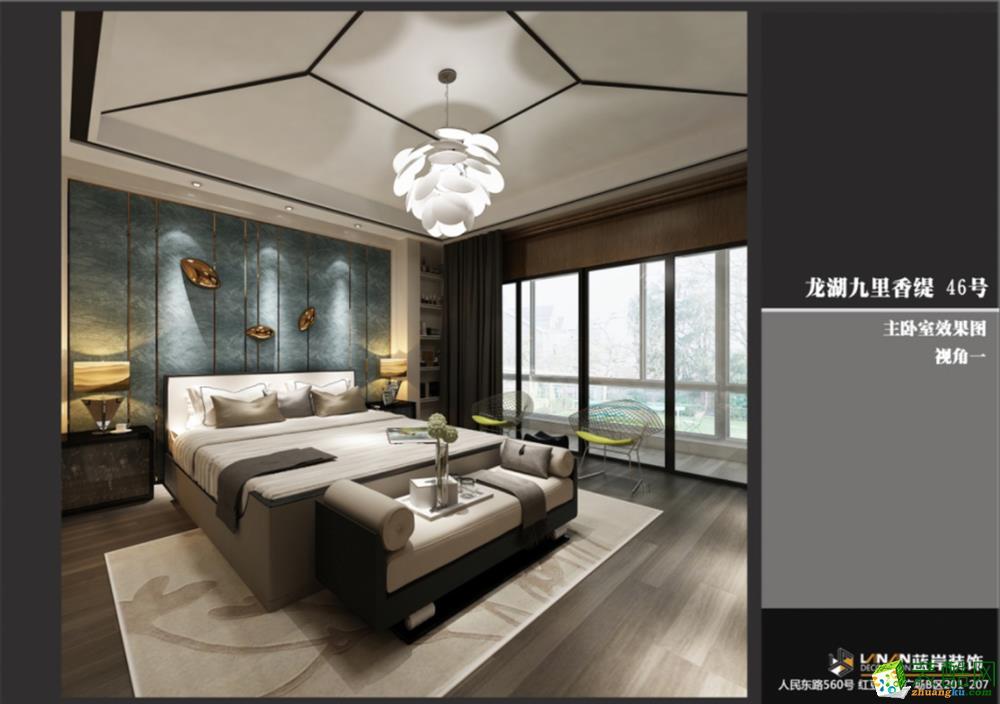 无锡蓝岸装饰-九里香醍现代简约三居室装修效果图