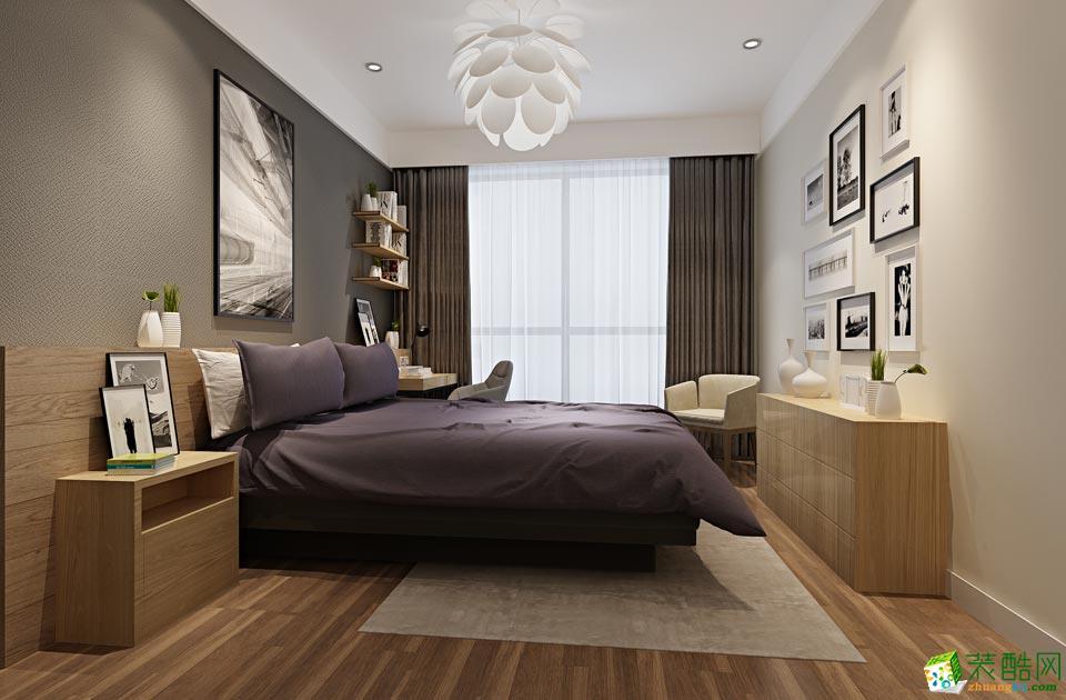 无锡蓝岸装饰-现代简约三居室装修效果图