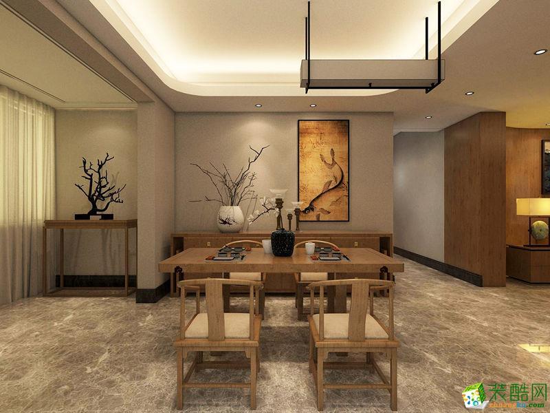 无锡欧景装饰-中式三居室装修效果图