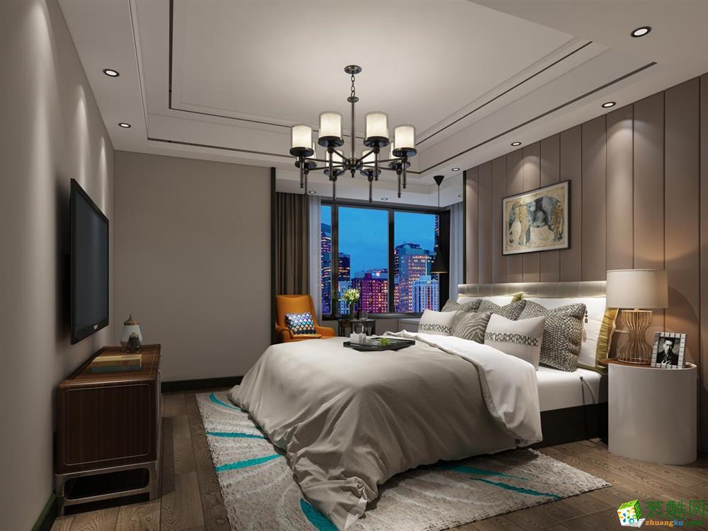 无锡欧景装饰- 金科观天下现代简约四居室装修效果图