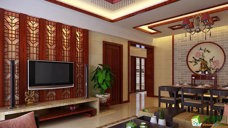 九木堂装饰/中式风格/三室两厅