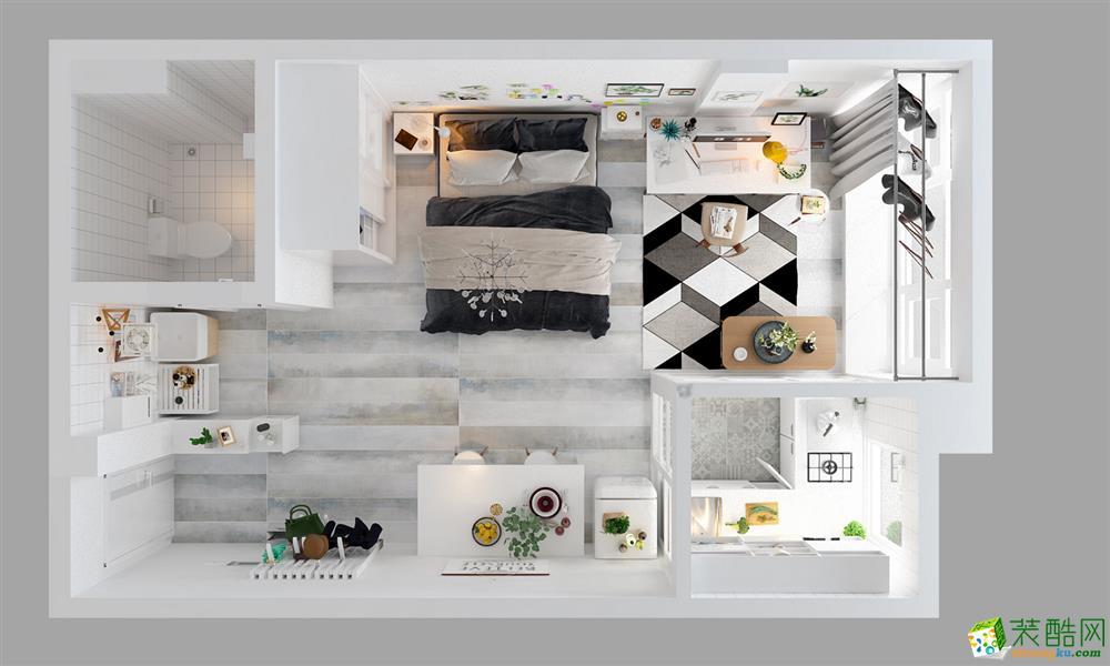 长沙本沐装饰-简约一居室装修效果图