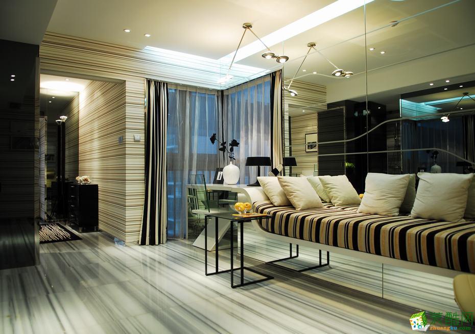【城市人家装饰】150�O现代四居室装修实景案例图