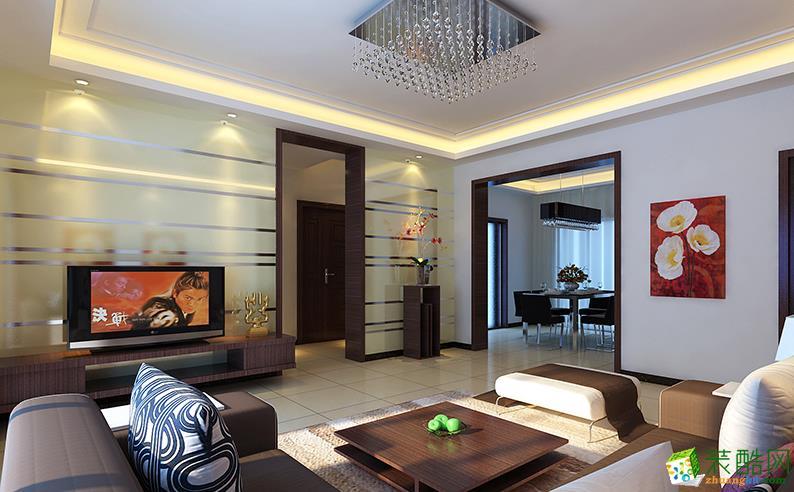 安耀建筑装饰/现代简约/两室两厅