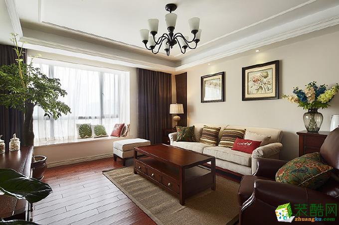【九一装饰】80�O美式两居室装修实景案例图