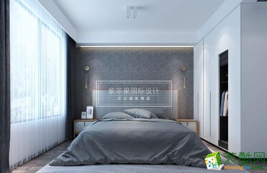 无锡紫苹果装饰-现代简约两居室装修效果图