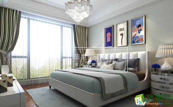 无锡紫苹果装饰-美式两居室装修效果图