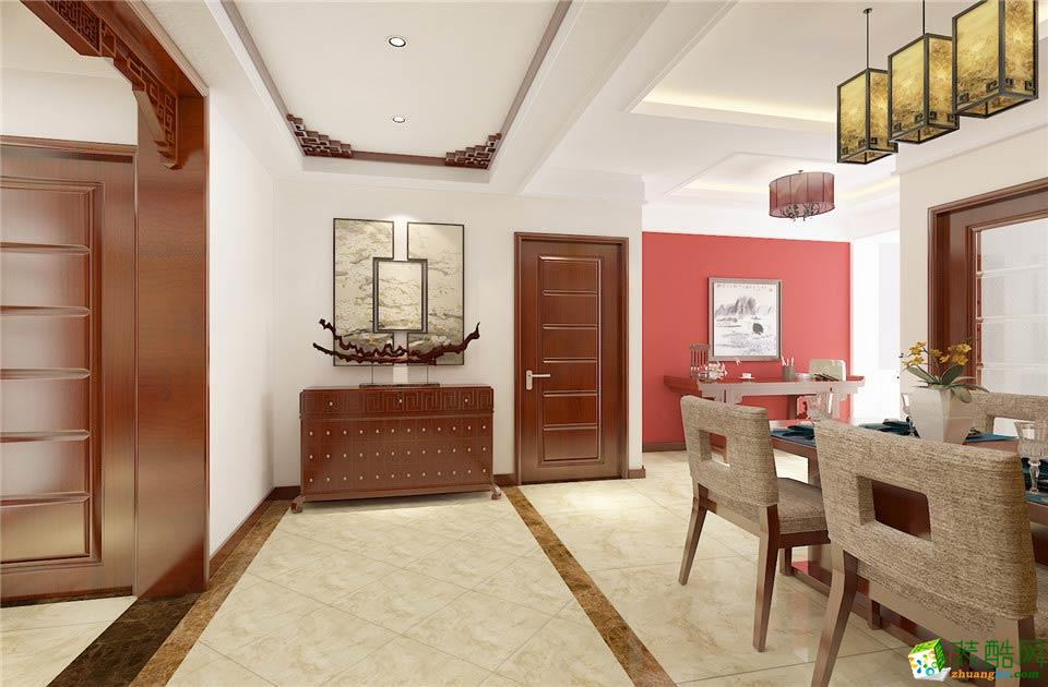 长沙名匠装饰-中式三居室装修效果图