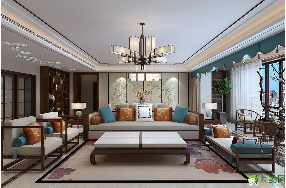长沙乐家装饰-新中式三居室装修效果图