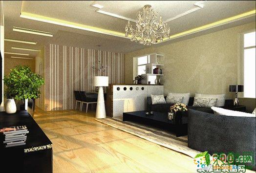 【万象新天】144平现代简约风格家居装修效果图