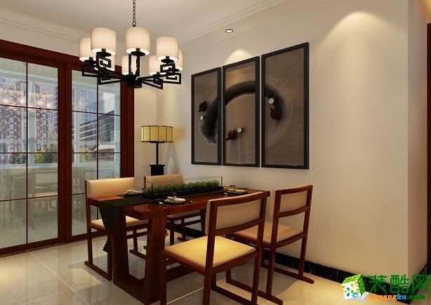 济南九创装饰-中式三居室装修效果图