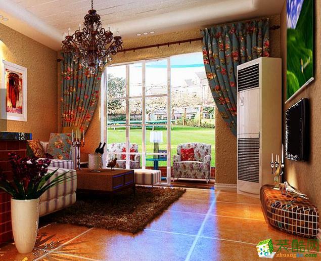 固原舒美装饰-90平两居室简美风装修实景图