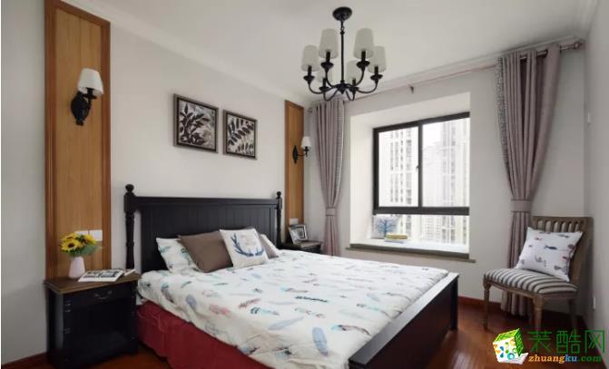 沈陽兩居室96平休閑美式風二手房裝修