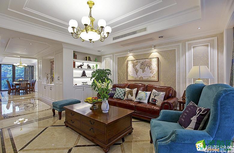 胡荣装饰―124�O美式风格三室两厅装修