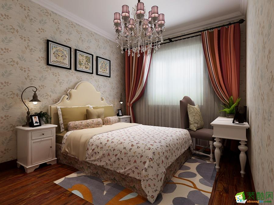 潮州朝堂装饰-新中式三居室装修效果图