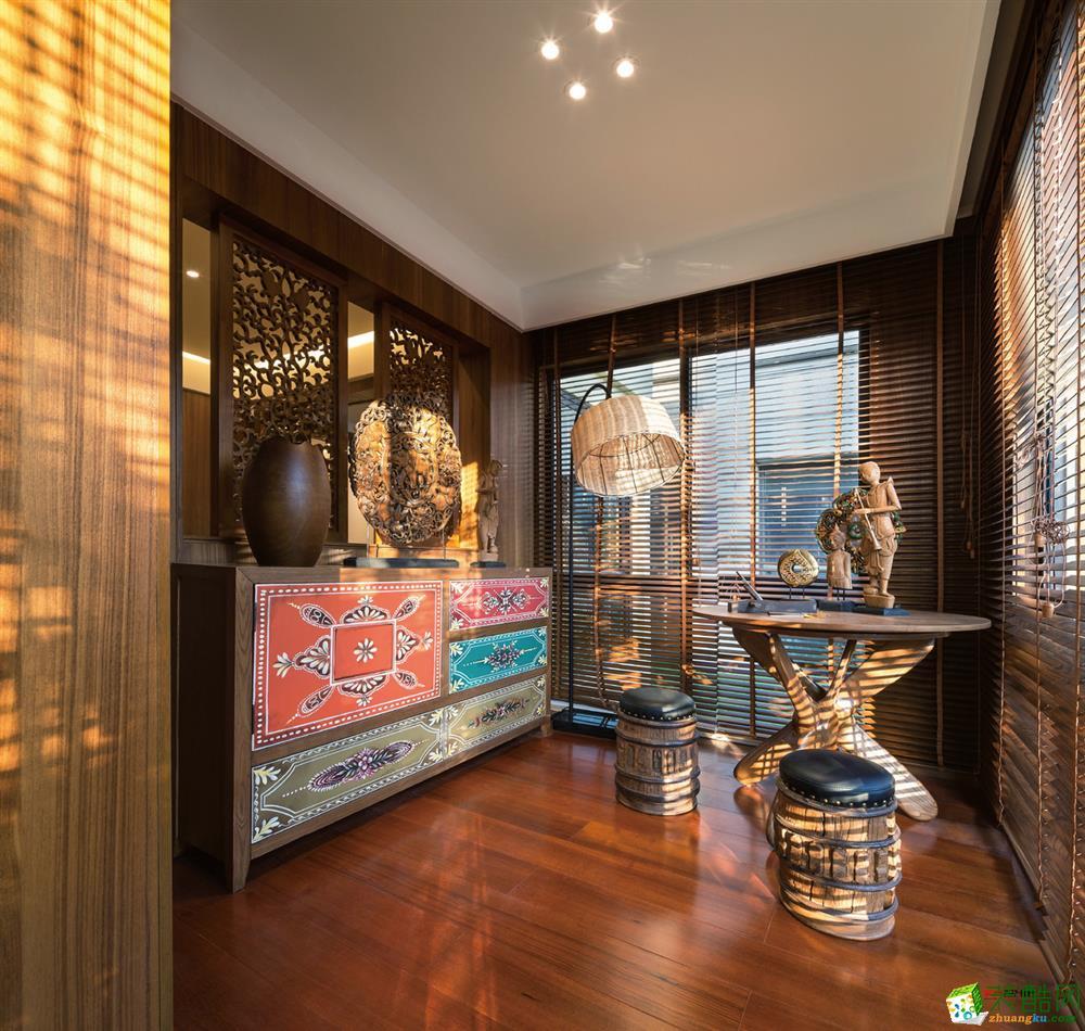 龙湖景庭122�O新中式--新乡最好的装饰公司