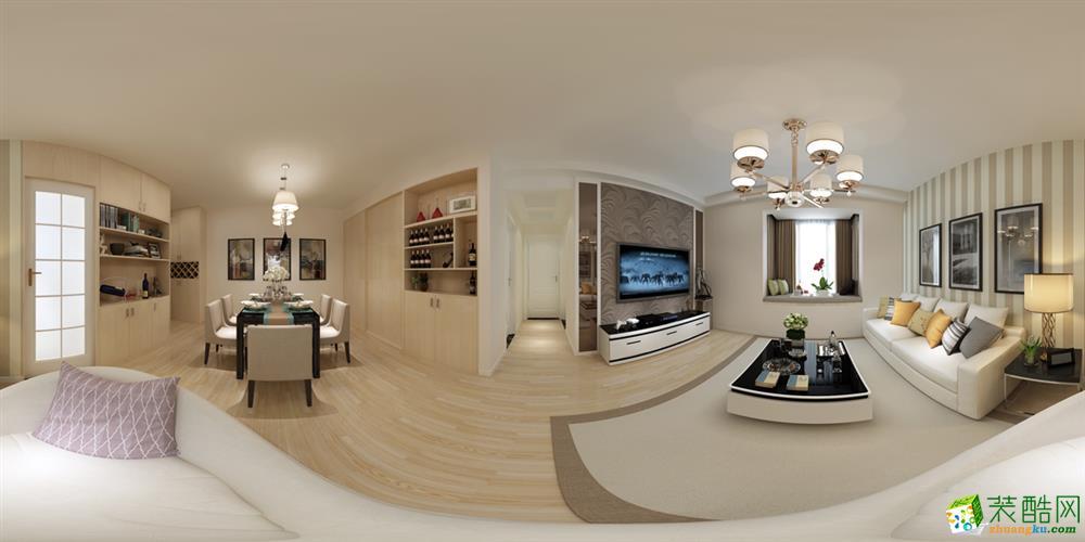 常熟好思维装饰-现代简约三居室装修效果图