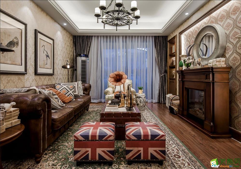 常熟好思维装饰-美式乡村两居室装修效果图