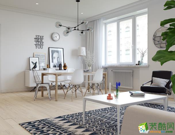 凯纳装饰-北欧三居室装修效果图