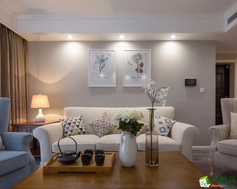 凯纳装饰-美式三居室装修效果图