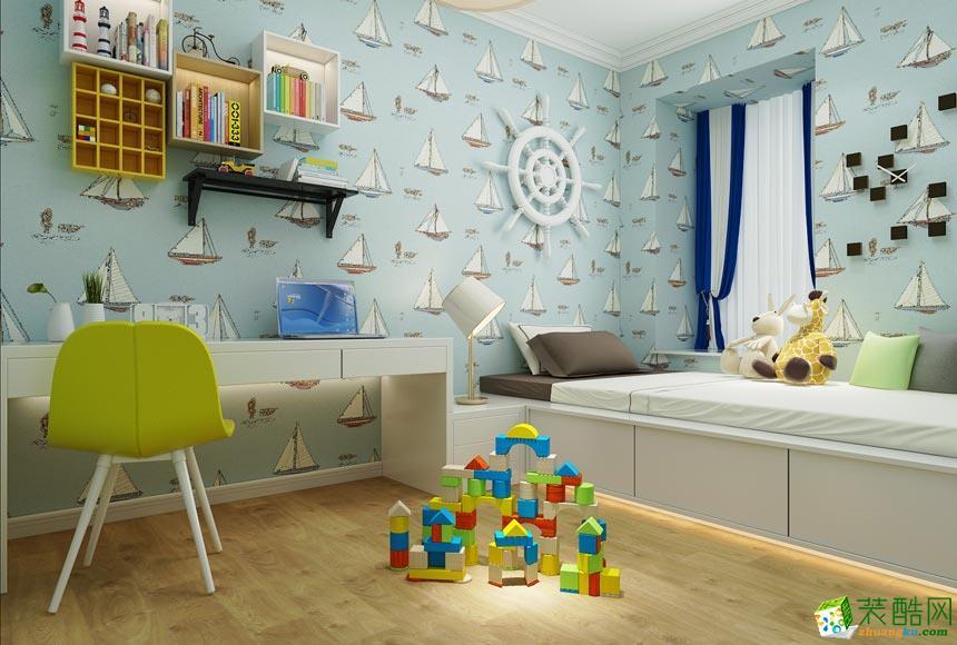 西安东宫装饰-现代简约两居室装修效果图