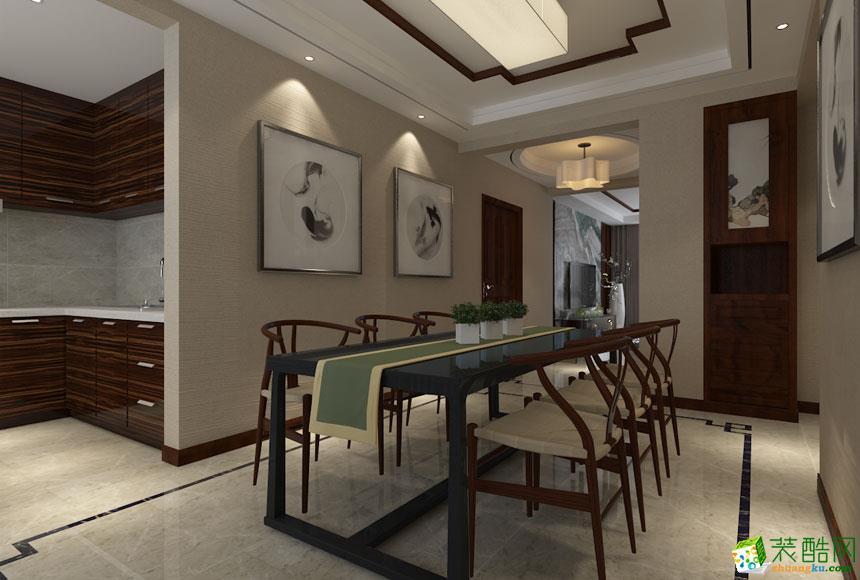 西安峰光无限装饰-新中式三居室装修效果图