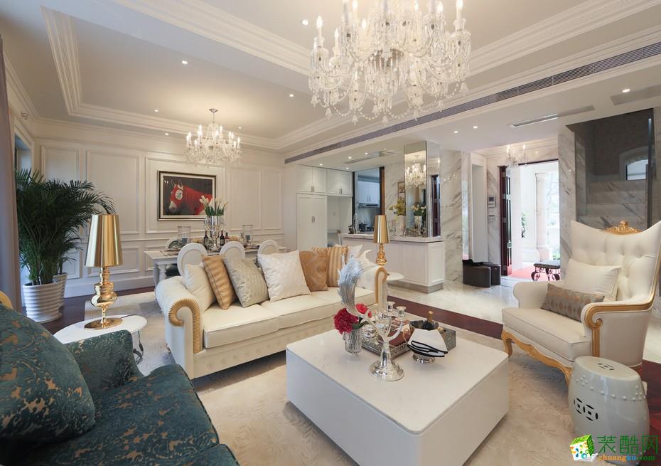 【嘉禾装饰 武汉】汉阳兰亭时代130�O欧式风格三室两厅装修效果图