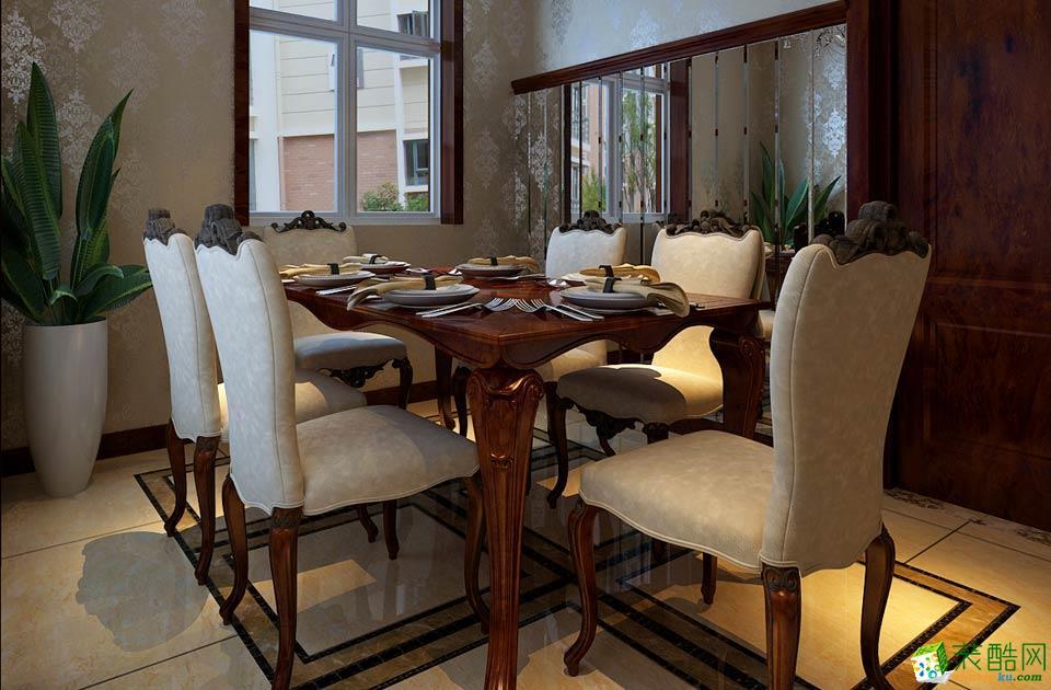 西安兴唐装饰-美式两居室装修效果图