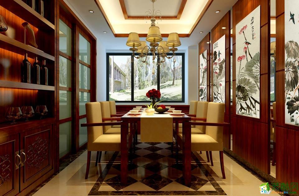 长沙牛魔王装饰-中式三居室装修效果图