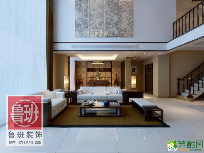 【鲁班装饰】新中式风格/四室两厅