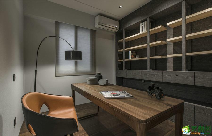 98平米現代三居室裝修效果圖