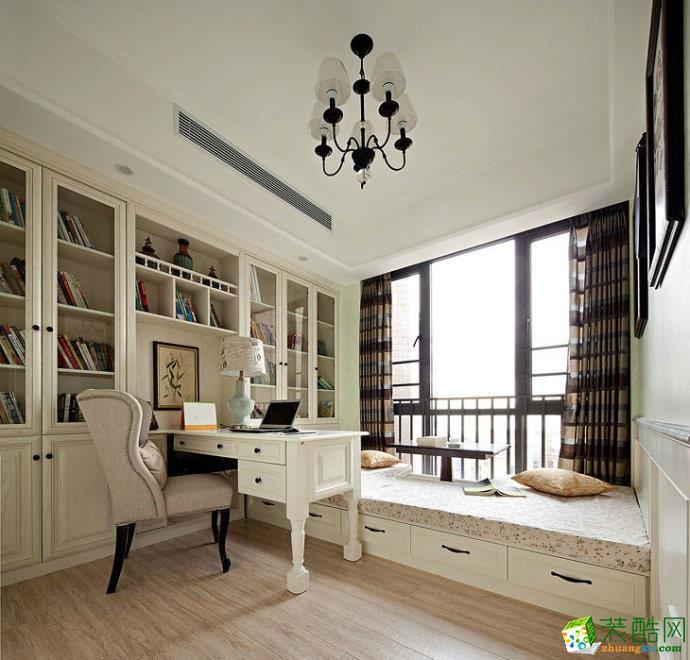 富元家园156平 美式书房装修
