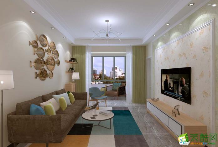双艺装饰-98�O三居室现代简约装修效果图