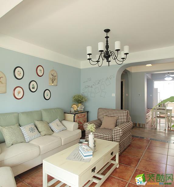 |澳华设计作品|汉阳十里玫瑰116�O简美三居室装修效果图