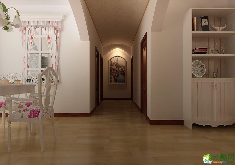 博艺装饰―98�O田园风格三居室装修效果图