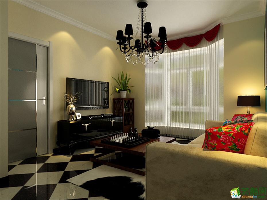 无锡幸福旺嘉装饰-混搭两居室装修效果图