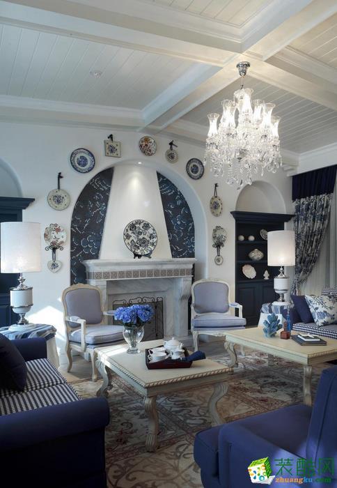 无锡传承建筑装饰-地中海三居室装修效果图