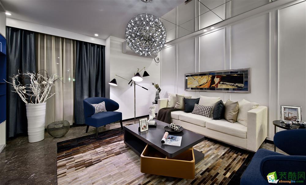 【丰立装饰】保利上城100�O三室一厅意大利风格装修效果图