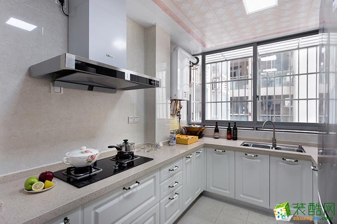 隆鑫72府 欧式风格 两室两厅两卫 装修案例效果图赏析---厨房
