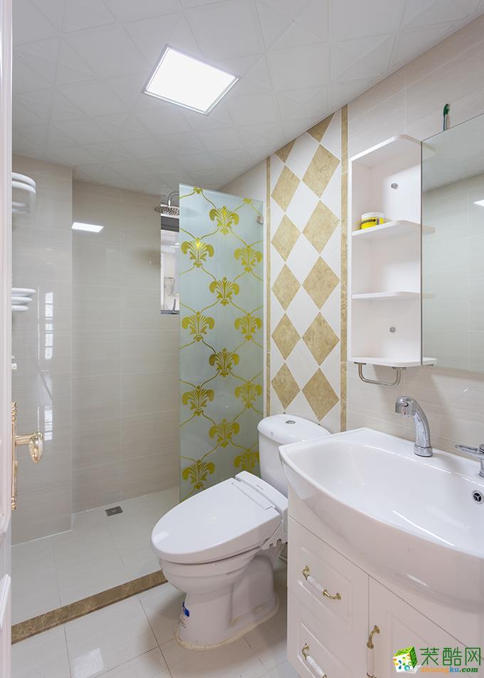 隆鑫72府 欧式风格 两室两厅两卫 装修案例效果图赏析---卫浴