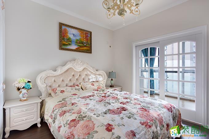 隆鑫72府 欧式风格 两室两厅两卫 装修案例效果图赏析---卧室