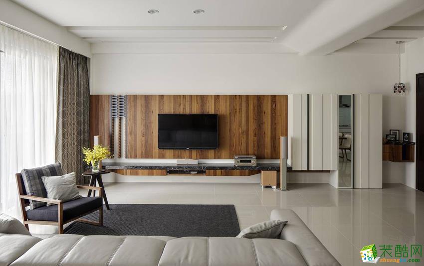 百乐居装饰―108�O三室一厅现代简约装修效果图