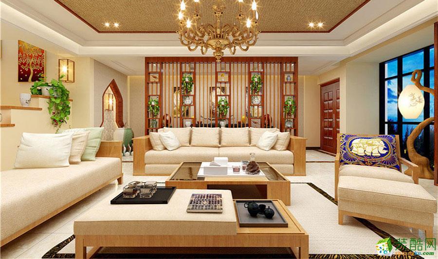 【龙头装饰】巍山大通豪庭|东南亚风格|装饰效果图