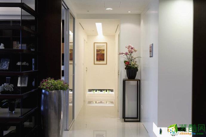 华晨装饰―128�O现代简约三居室装修案例