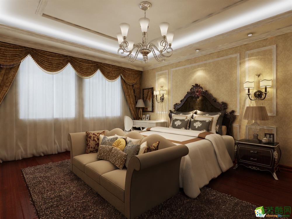 105平米美式三居室装修效果图