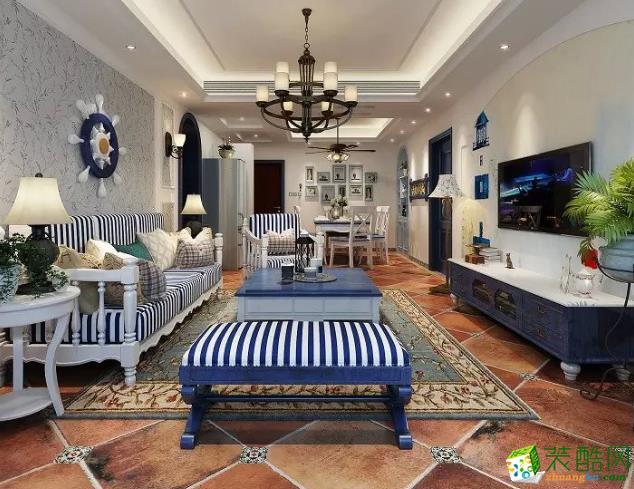 无锡桔子装饰-地中海两居室装修效果图