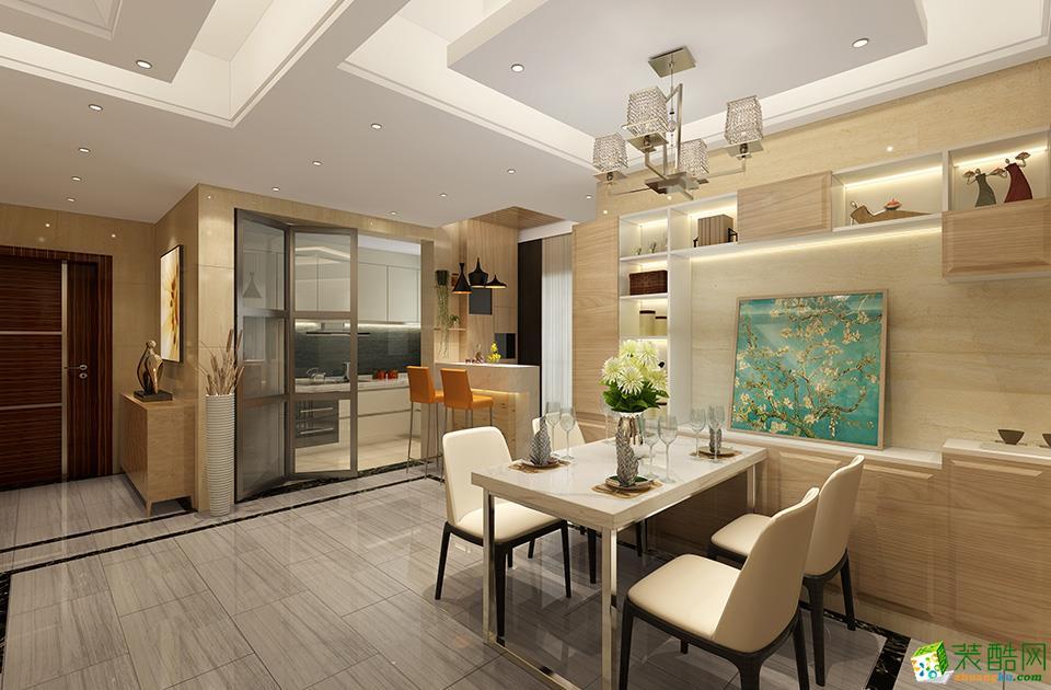 无锡卓米装饰-现代简约三居室装修效果图