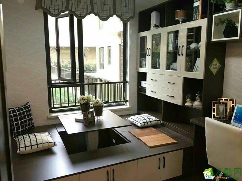 现代简约风格两室一厅80�O两居室装修效果图赏析---榻榻米